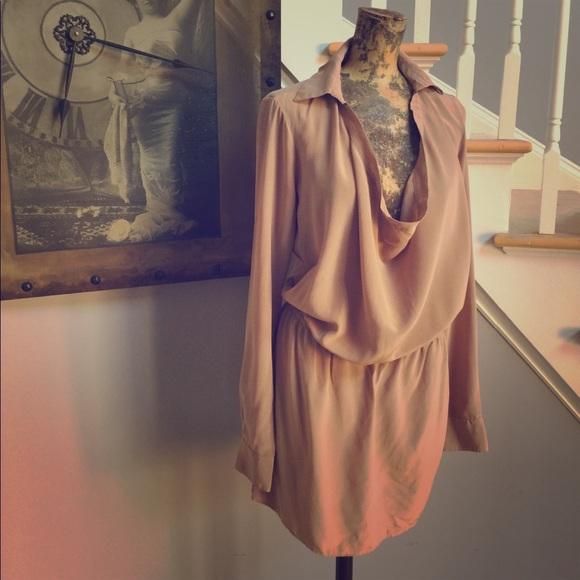 54910a4c3a63 Haute Hippie Dresses | Blush Pink Silk Tunic Dress | Poshmark